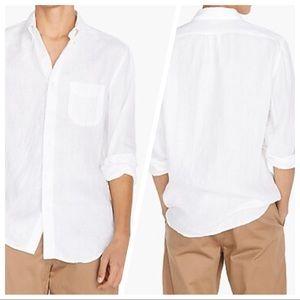 J. CREEW Irish linen shirt By  Baird McNutt White